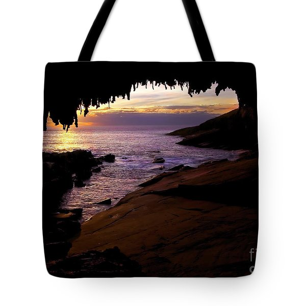 Admiral's  Arch Sunset Tote Bag by Mike Dawson