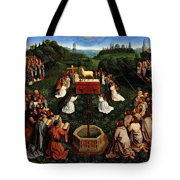 Adoration Of The Mystic Lamb Tote Bag