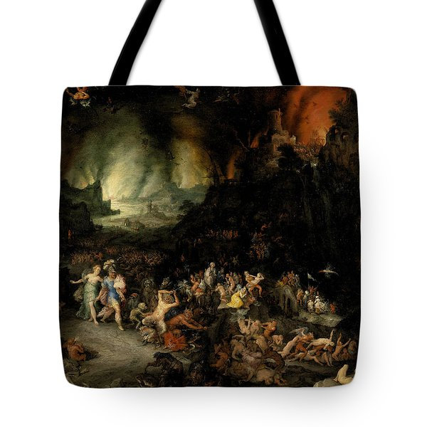 Aeneas And Sibyl In The Underworld Tote Bag