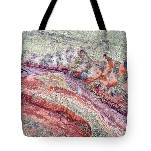 aerial landscape abstract of Colorado foothills Tote Bag