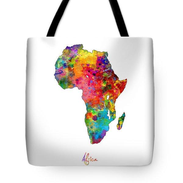 Africa Watercolor Map Tote Bag