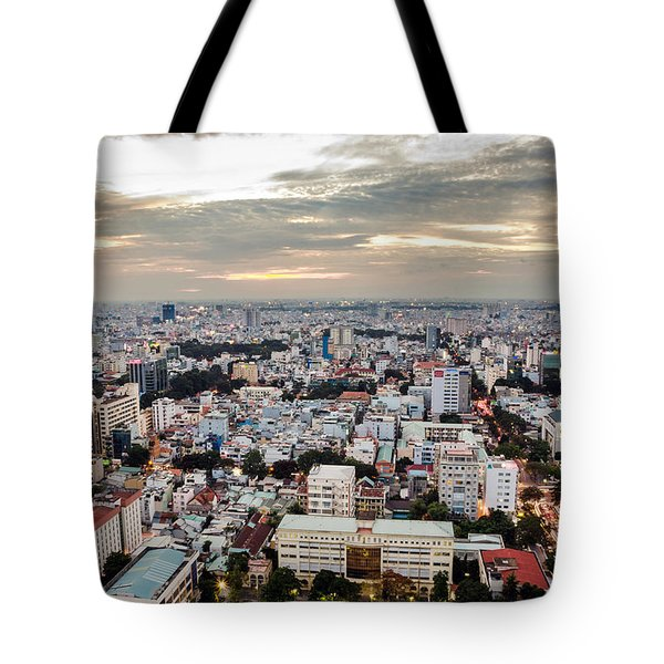 Afternoon On The City Tote Bag
