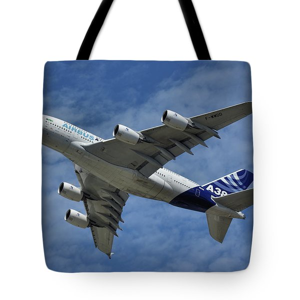 Airbus A380 Tote Bag by Tim Beach