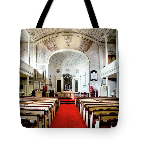 Tote Bag featuring the photograph Aisle Of God by Greg Fortier