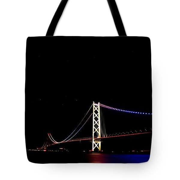 Akashi-strait-bridge Tote Bag