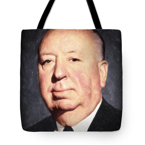 Alfred Hitchcock Tote Bag by Taylan Apukovska