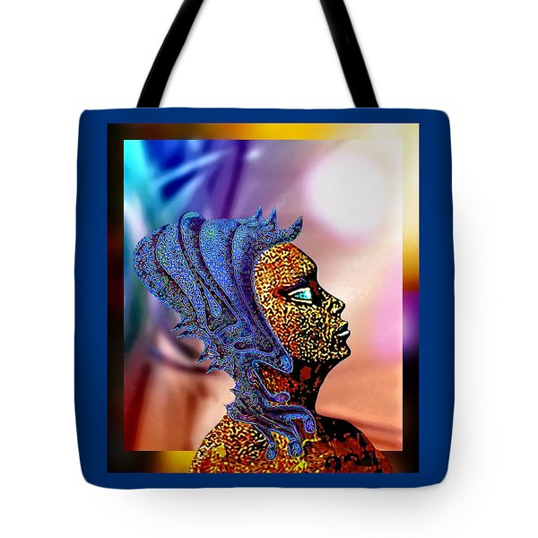 Alien Portrait Tote Bag
