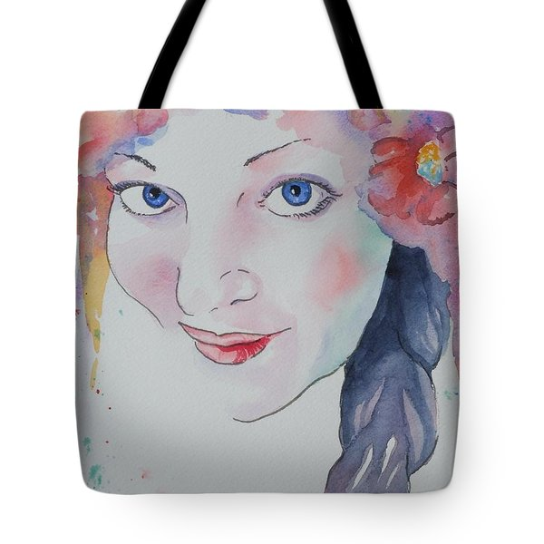 Tote Bag featuring the painting Alisha by Mary Haley-Rocks