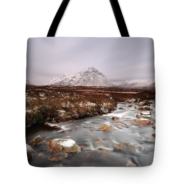 Allt Nan Giubhas And The Peak Of Stob Dearg Tote Bag