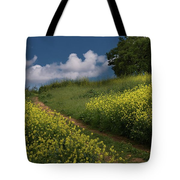 Almaden Meadows' Mustard Blossoms Tote Bag