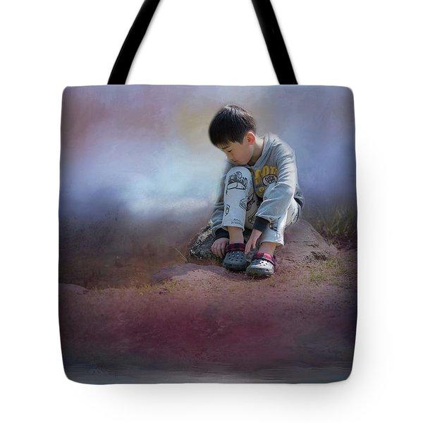 Alone Tote Bag by Eva Lechner