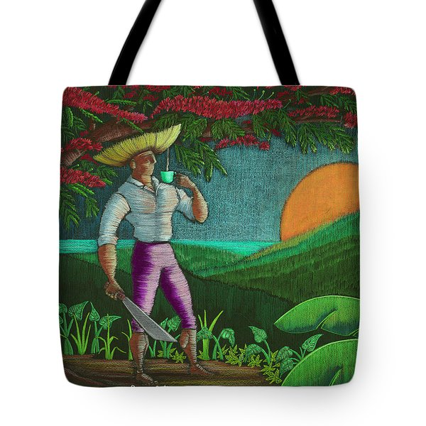 Tote Bag featuring the painting Amanecer En Borinquen by Oscar Ortiz