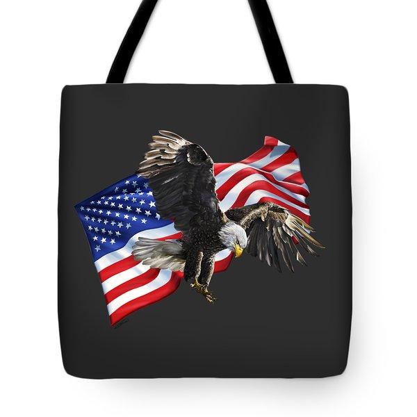 America Tote Bag by Owen Bell