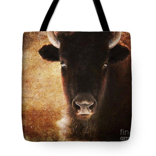 American Bison Tote Bag by Olivia Hardwicke