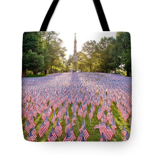 American Flags Tote Bag