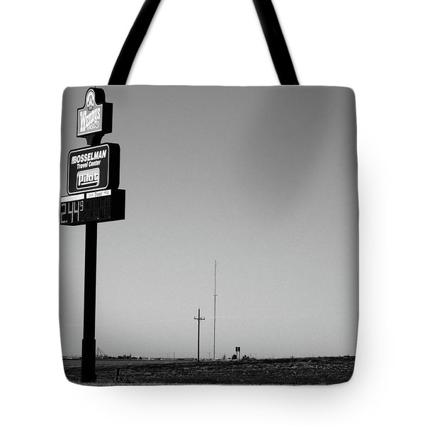 Tote Bag featuring the photograph American Interstate - Kansas I-70 Bw 4 by Frank Romeo