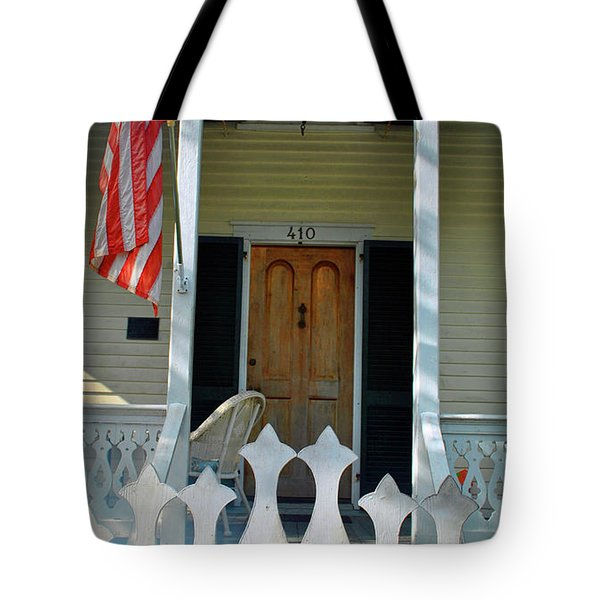 Tote Bag featuring the photograph American Porch by Jost Houk
