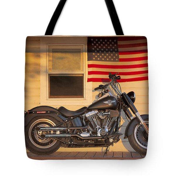American Pride. Harley Davidson Tote Bag