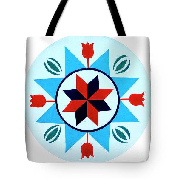 Tote Bag featuring the photograph Amish Hex Design by Paul W Faust - Impressions of Light