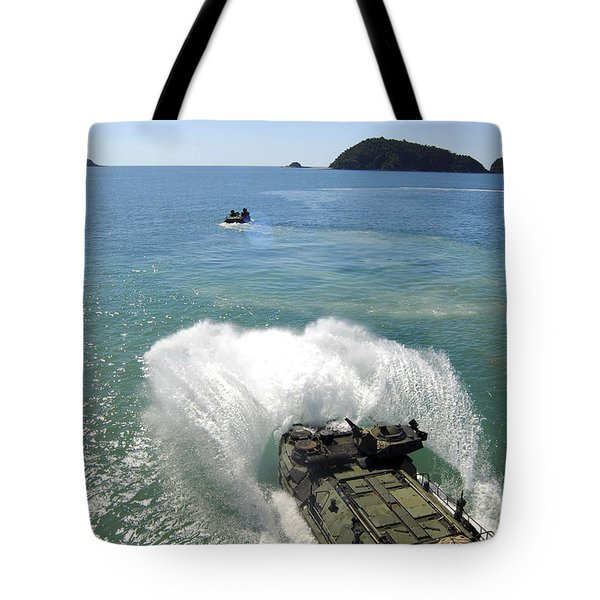Amphibious Assault Vehicles Exit Tote Bag by Stocktrek Images