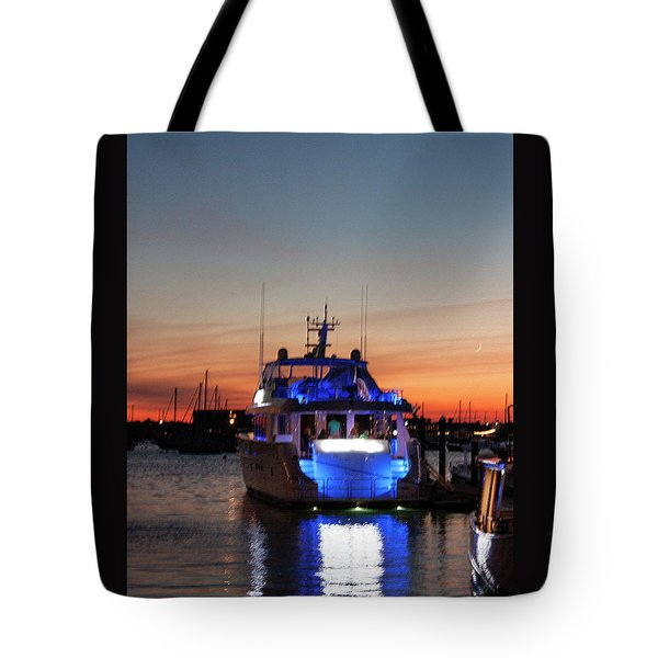 Tote Bag featuring the photograph An Evening In Newport Rhode Island by Suzanne Gaff
