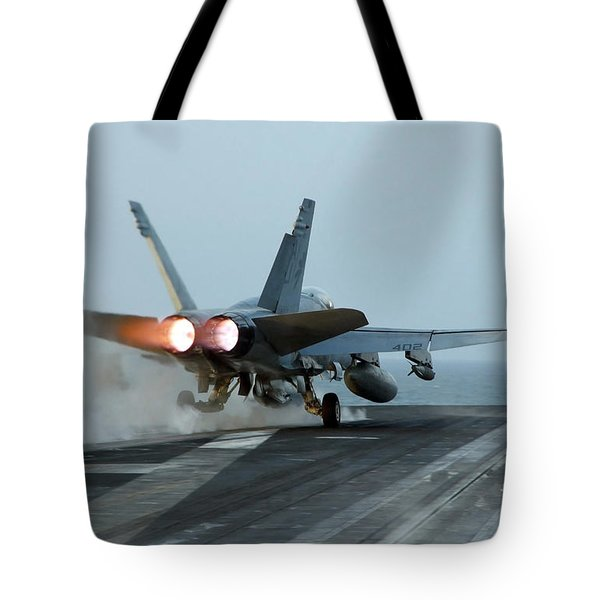 An Fa-18 Hornet Launches Tote Bag by Stocktrek Images