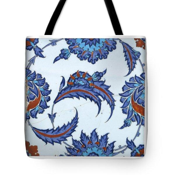 An Iznik Polychrome Pottery Tile Tote Bag