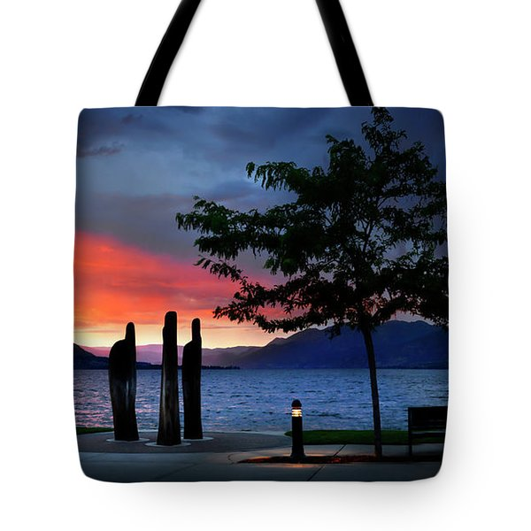 Tote Bag featuring the photograph A Sunset Story by John Poon