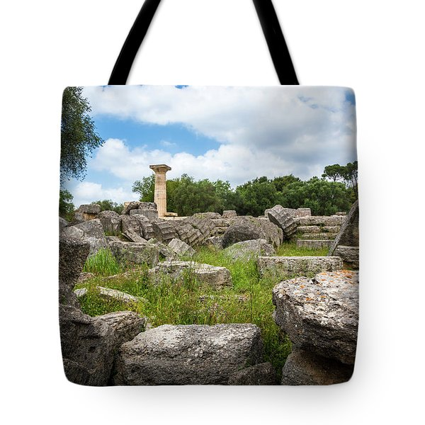 Ancient Olympia / Greece Tote Bag by Stavros Argyropoulos