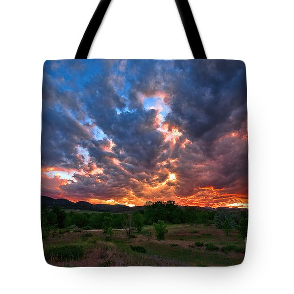 And There Was War In Heaven Tote Bag
