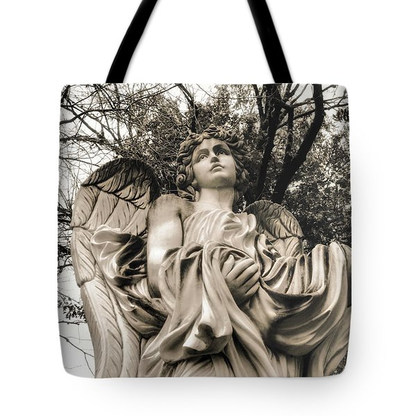 Angel In The Fall Tote Bag