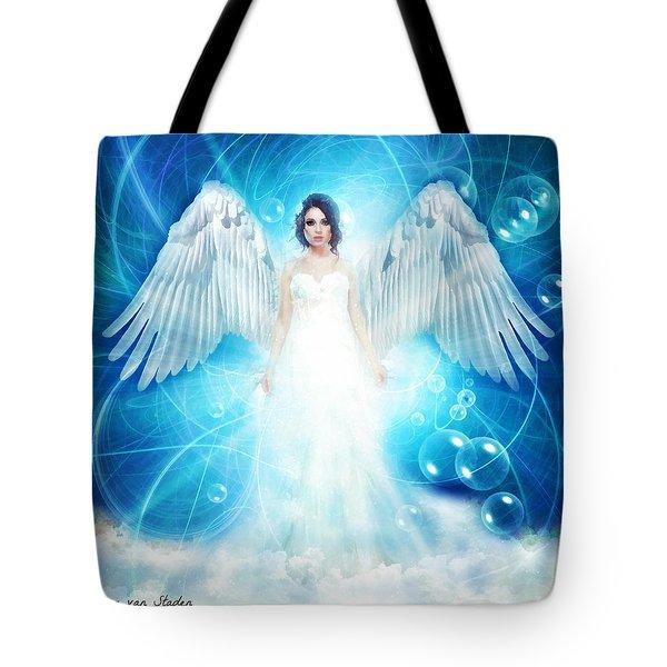 Tote Bag featuring the digital art Angel by Riana Van Staden