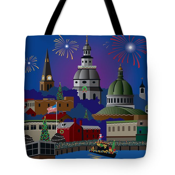 Annapolis Holiday Tote Bag