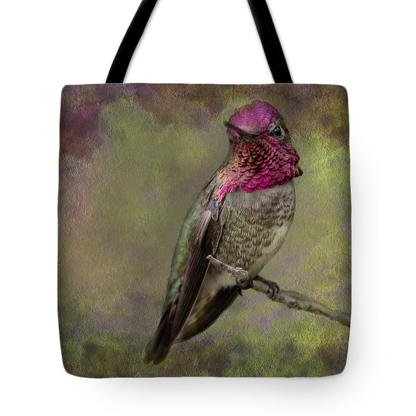 Tote Bag featuring the photograph Anna's Hummingbird by Barbara Manis