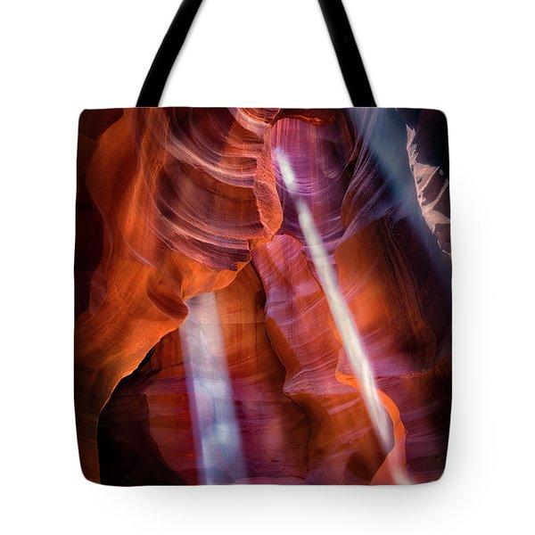 Antelope Canyon's Many Beams Tote Bag