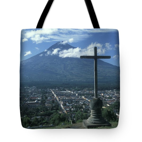 Tote Bag featuring the photograph Antigua Guatemala by John  Mitchell