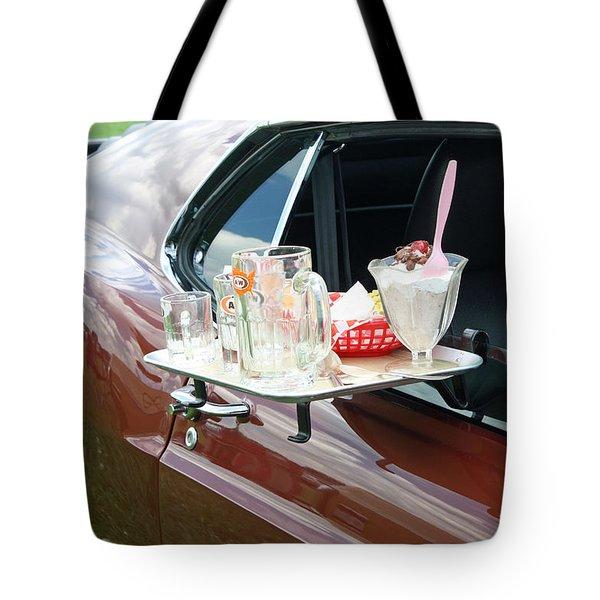 Antique Car Tote Bag by Ellen Tully