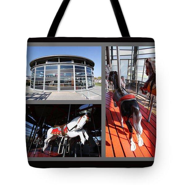 Antique Carousel Greenport New York Tote Bag