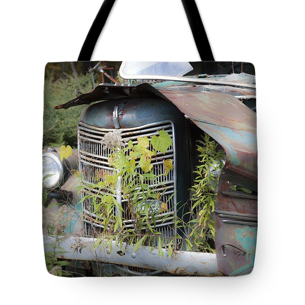 Tote Bag featuring the photograph Antique Mack Truck by Charles Harden