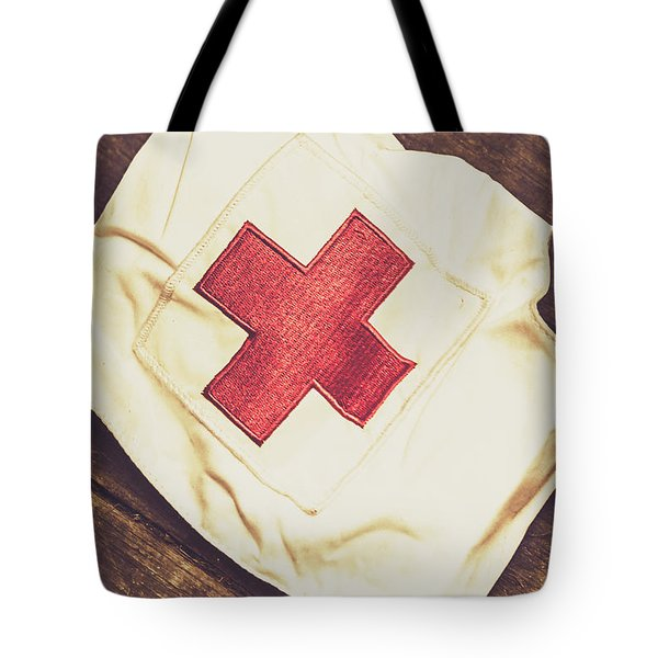 Antique Nurses Hat With Red Cross Emblem Tote Bag
