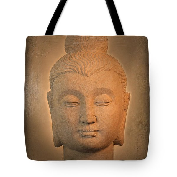 antique oil effect Buddha Gandhara. Tote Bag by Terrell Kaucher