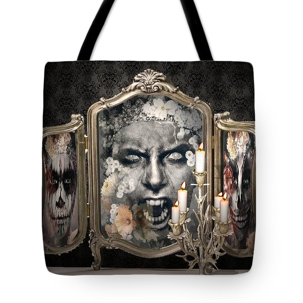 Antique Vampire Paintings Tote Bag