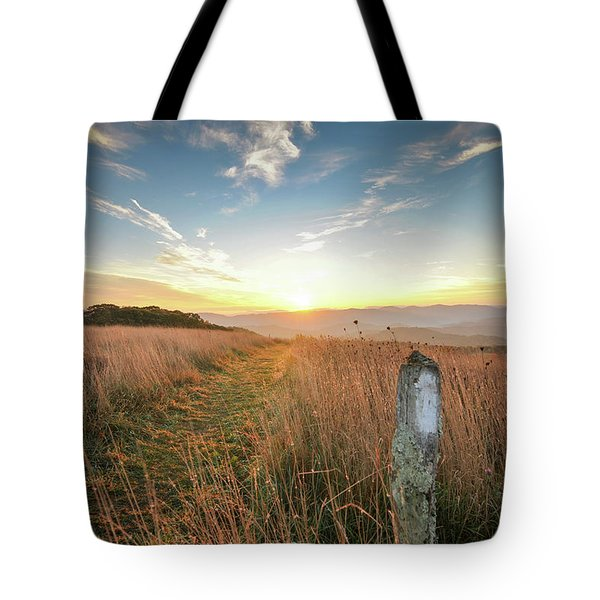 Appalachian Trail Sunrise Tote Bag
