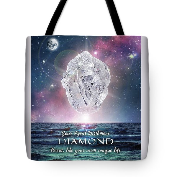 April Birthstone Diamond Tote Bag