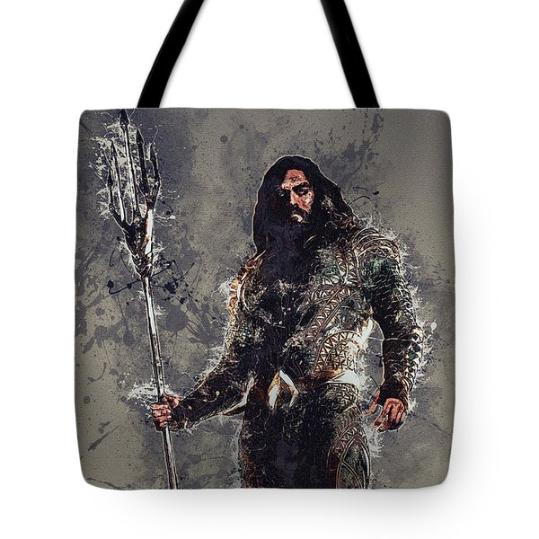 Aquaman Tote Bag by Elena Kosvincheva