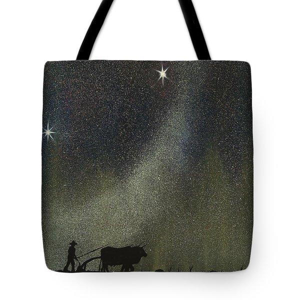 Tote Bag featuring the painting Arado De Bueyes by Edwin Alverio