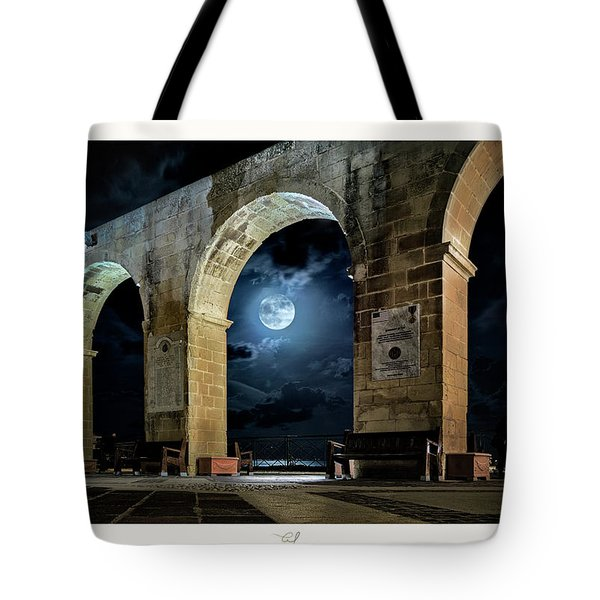 Arched Moon Tote Bag