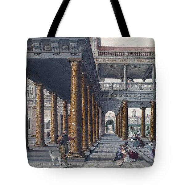 Architectural Caprice With Figures Tote Bag