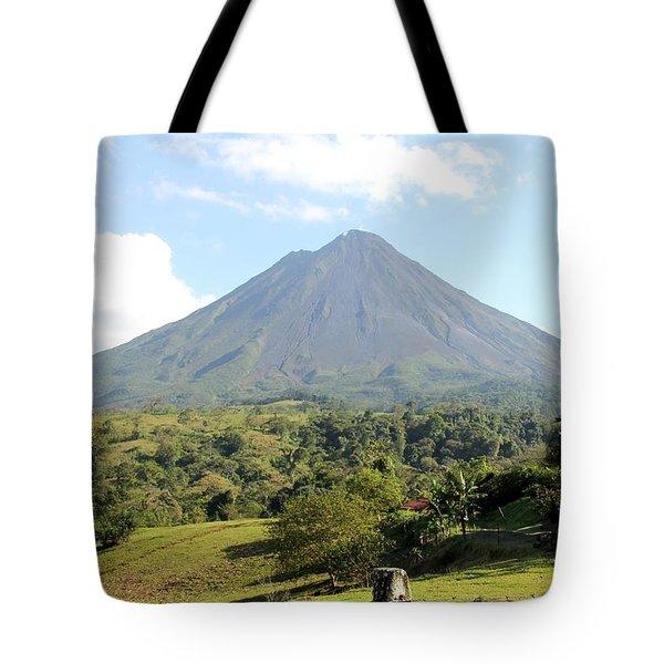 Arenal Volcano Tote Bag