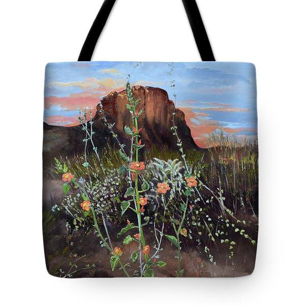 Arizona Desert Flowers-dwarf Indian Mallow Tote Bag